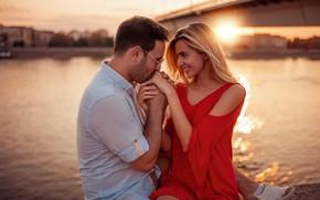 Picture look, girl, love, feelings, pair, guy, lovers