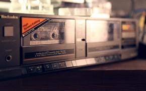 Picture retro, music, magazine, cassette, tape, old school