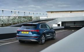 Picture Audi, rear view, E-Tron, 2019, UK version