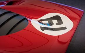 Picture Red, Car, Classic, Ferrari 312 P