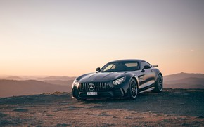 Picture sunset, Mercedes-Benz, the evening, AMG, AU-spec, GT R, 2019