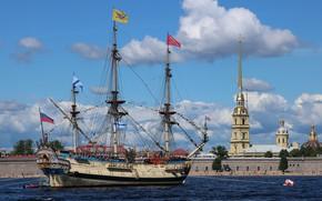 Picture sailboat, Poltava, replica