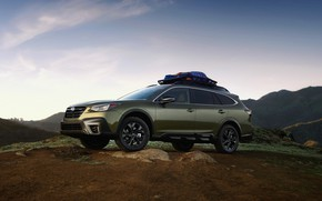Picture mountains, Subaru, universal, Outback, AWD, 2020