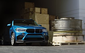Picture BMW, Blue, Predator, X5M, Sight, F15