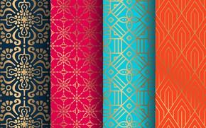 Picture orange, blue, background, gold, blue, pattern, texture