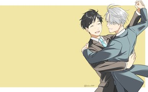 Picture dance, anime, art, Yuri on Ice, Yuri on the ice, Viktor Nikiforov, Victor Nikiforov, Yuri …