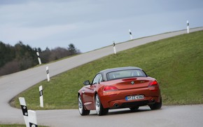 Picture road, BMW, back, Roadster, 2013, E89, BMW Z4, Z4, sDrive35is