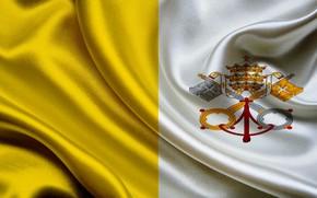 Picture flag, coat of arms, fon, flag, vatican, the Vatican, coat of arms