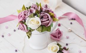 Picture style, tape, roses, Flowers, bouquet, Design, Flower, beads, Wedding, Vintage, ARTOM PESETSKY