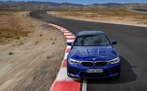 Picture movement, track, BMW, sedan, BMW M5, 2017, M5, F90