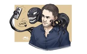 Picture smile, Venom, Venom, selfie, Eddie Brock, by soltia