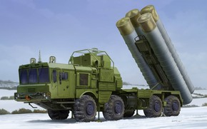 """Picture art, Defense, SAM, Russia's armed forces, 40N6, 51P6A TEL S-400, S-400 """"Triumph"""""""