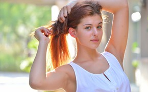 Picture eyes, girl, face, hair