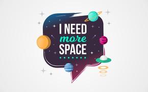 Wallpaper space, the inscription, figure, graphics, planet, space