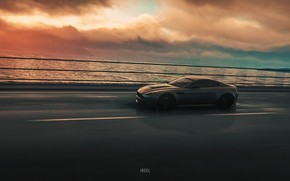Picture Aston Martin, Sea, Auto, Machine, Rendering, Aston Martin Vantage, DRIVECLUB, Game Art, Environments, Transport & …