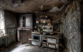 Picture house, kitchen, background