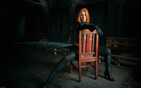 Picture cosplay, Black widow, based on the movie