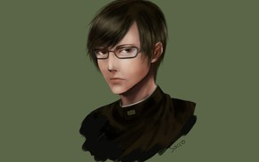 Picture look, portrait, anime, art, glasses, guy, Sakamoto Desu Ga, I Sakamoto, what?