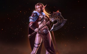 Picture Girl, Figure, The game, Style, Elf, World of Warcraft, WOW, Fantasy, Elf, Art, Art, Beauty, …