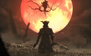 Picture Red, Sony, PS4, Bloodborne, Moon Presence