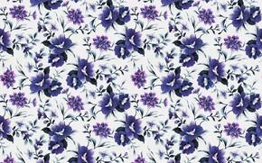 Picture purple, flowers, retro, pattern