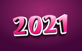 Picture background, figures, New year, 2021