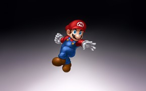 Picture Fantasy, Art, Mario, Style, Background, Illustration, Minimalism, Character, Game Art, Nick Savino, Smash Brothers