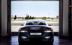 Picture coupe, BMW, rear view, 2017, 8-Series Concept