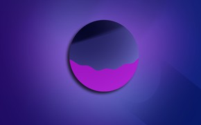 Picture purple, abstraction, circumference