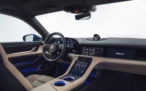 Picture Porsche, salon, electric, electric cars, 2019, electric car, Taycan, Porsche Taycan