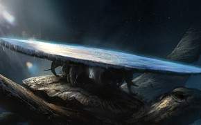 Picture Figure, Planet, Space, Earth, The world, Turtle, Fiction, Elephants, Myth, Denis Loebner, by Denis Loebner, …