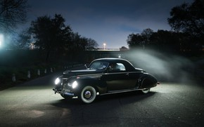Picture Lincoln, Coupe, Vintage, 1939, Zephyr