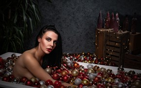 Picture girl, toys, bath, New year, it's just a holiday for you, Luc Stalmans