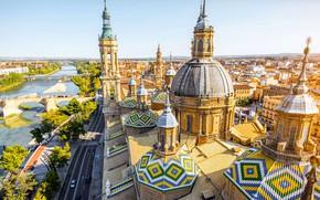 Picture Spain, the dome, spire, Basilica, Zaragoza, Nuestra Señora del Pilar