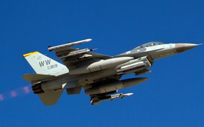 Picture UNITED STATES AIR FORCE, General Dynamics F-16 Fighting Falcon, the fourth generation, multi-role fighter, American …