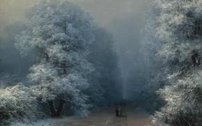 Picture picture, alley, Ivan Aivazovsky, Winter Landscape