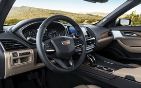 Picture grey, Cadillac, devices, the wheel, sedan, four-door, 2020, CT5