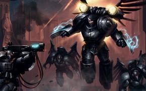 Picture Horus Heresy, space marines, Warhammer 40 000, Raven Guard, primarch, Corvus Corax