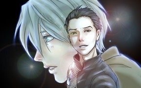 Picture anime, art, Yuri on Ice, Yuri on the ice, Viktor Nikiforov, Victor Nikiforov, Yuri Katsuki
