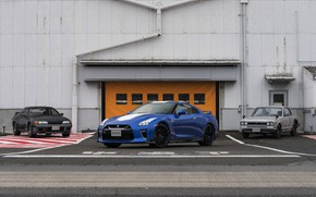 Picture blue, coupe, Nissan, GT-R, R32, Skyline, R35, 50th Anniversary Edition, KPGC10, 2020, 2019, at the …