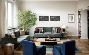 Picture room, interior, living room, by Atelier Rad., Smaranda Radicati di Brozolo, Family Apartment in Milan