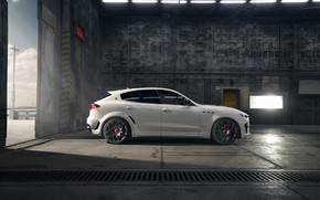 Picture Maserati, side view, crossover, Rosso, Novitec, 2020, Q4, GranSport, Levante S, Extended V2