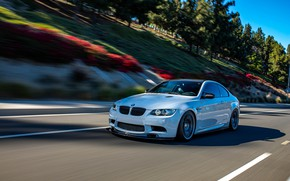 Picture bmw, road, speed, e92