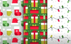 Picture background, gifts, Christmas, design, pattern