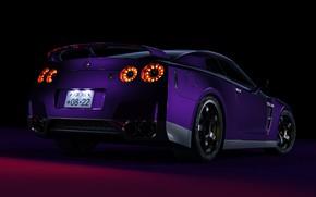 Picture Auto, Machine, Car, Purple, Nissan GTR, Transport & Vehicles, Ryan Giffary, by Ryan Giffary, 2008 …
