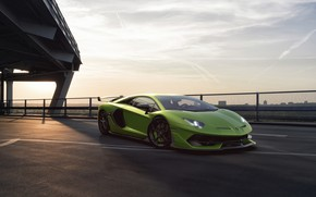 Picture Lamborghini, Green, Machine, Sky, Green, Supercar, Aventador, Sports car, SVJ, Nancorocks, Transport & Vehicles, Lamborghini …