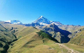 Picture mountain, Georgia, The Caucasus, Kazbek