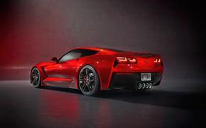 Picture Red, Auto, Corvette, Machine, Chevrolet Corvette, Supercar, C7 Corvette, Transport & Vehicles, by Damian Bilinski, …