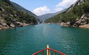 Picture mountains, river, canyon, Turkey, river, mountains, turkey, green canyon