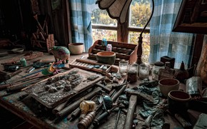 Picture window, workshop, naturalism